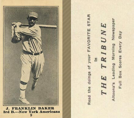 1916 Tribune Frank Baker #9 Baseball Card