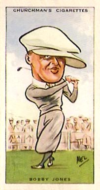 1931 WA & AC Churchman Golf-Small Bobby Jones #25 Boxing & Other Card