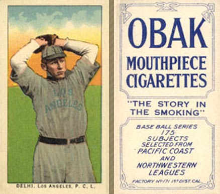 1910 Obak (175 Subjects) Flame Delhi #51 Baseball Card