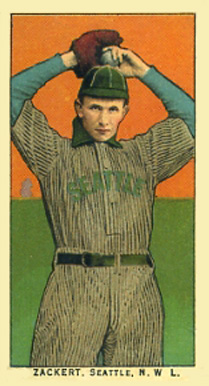 1910 Obak (175 Subjects) George Zackert #176 Baseball Card