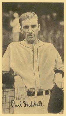 1936 National Chicle Fine Pens Carl Hubbell #67.5 Baseball Card