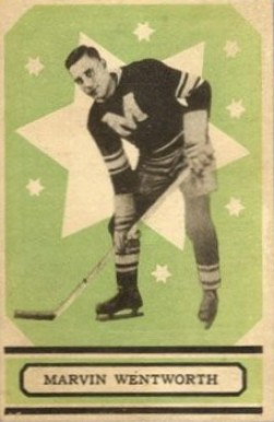 1933 O-Pee-Chee Marvin Wentworth #61 Hockey Card