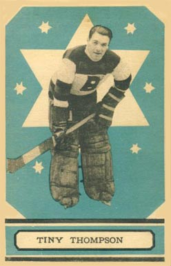 1933 O-Pee-Chee Tiny Thompson #68 Hockey Card