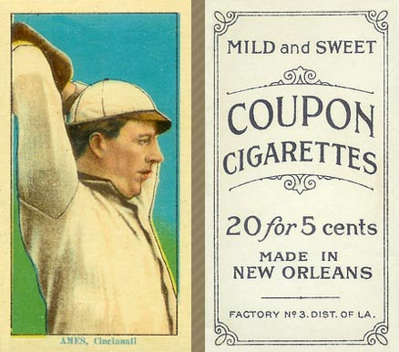1914 Coupon Cigarettes (Type 2) Red Ames #1 Baseball Card