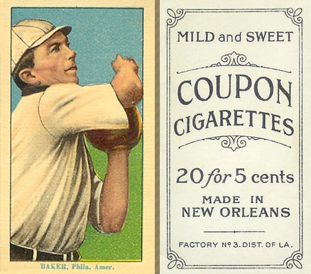 1914 Coupon Cigarettes (Type 2) Frank Baker #3 Baseball Card
