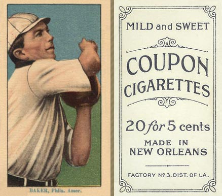 1914 Coupon Cigarettes (Type 2) Frank Baker #4 Baseball Card
