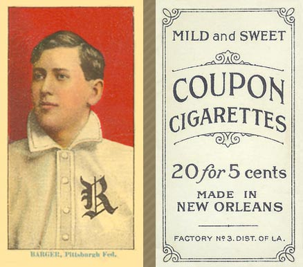 1914 Coupon Cigarettes (Type 2) Cy Barger #6 Baseball Card
