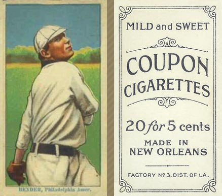 1914 Coupon Cigarettes (Type 2) Chief Bender #7 Baseball Card
