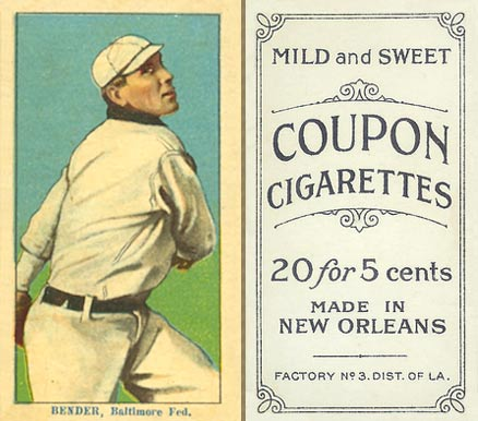 1914 Coupon Cigarettes (Type 2) Chief Bender #11 Baseball Card