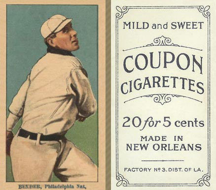 1914 Coupon Cigarettes (Type 2) Chief Bender #12 Baseball Card