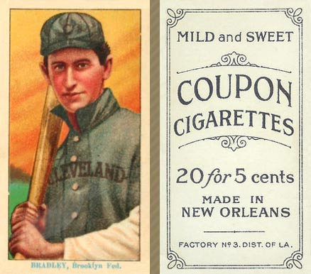1914 Coupon Cigarettes (Type 2) Bill Bradley #13 Baseball Card