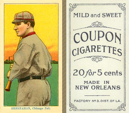 1914 Coupon Cigarettes (Type 2) Roger Bresnahan #14 Baseball Card
