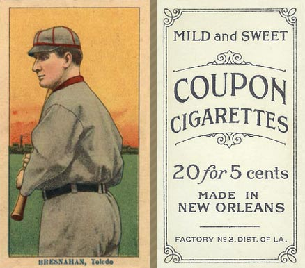 1914 Coupon Cigarettes (Type 2) Roger Bresnahan #15 Baseball Card