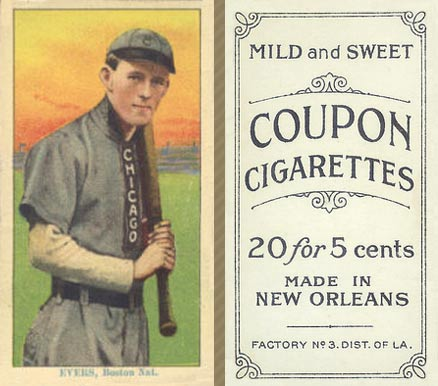 1914 Coupon Cigarettes (Type 2) Evers, Boston Nat. #67 Baseball Card