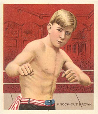 1910 Honest Long Cut Knock Out Brown #4 Boxing & Other Card