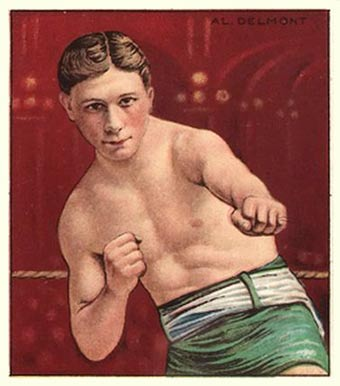 1910 Honest Long Cut Al Delmont #9 Boxing & Other Card