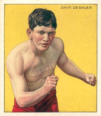 1910 Honest Long Cut Dave Deschler #10 Boxing & Other Card