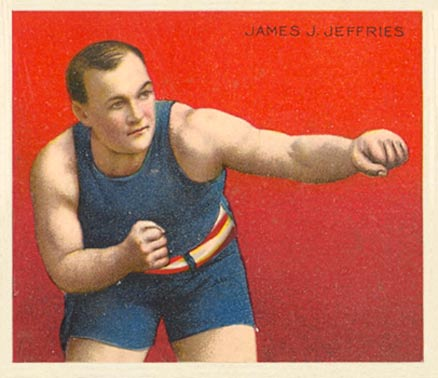 1910 Honest Long Cut James Jeffries #17 Boxing & Other Card