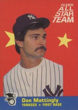 1986 Fleer All Stars Baseball Card Set Vcp Price Guide