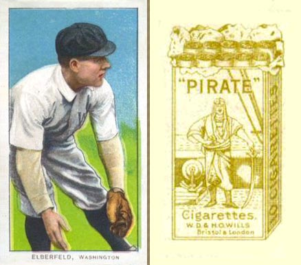 1912 Pirate Cigarettes Kid Elberfeld #23 Baseball Card
