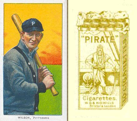 1912 Pirate Cigarettes Owen Wilson #90 Baseball Card