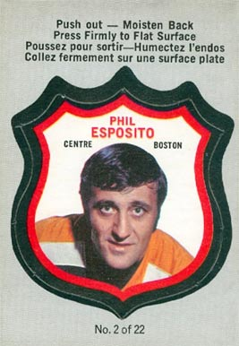 1972 O-Pee-Chee Players Crests Phil Esposito #2 Hockey Card