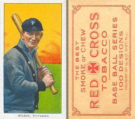 1910 Red Cross Tobacco (Type 1) Owen Wilson #86 Baseball Card