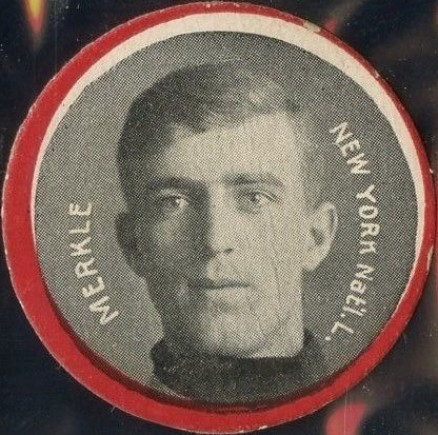 1912 Colgan's Chips Red Borders Fred Merkle #135 Baseball Card