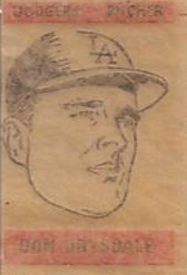 1965 Topps Transfers Don Drysdale #22 Baseball Card