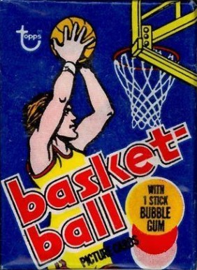 1970 Unopened Packs 1977 Topps Wax Pack #77Twp Basketball Card