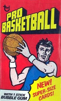 1970-79 Unopened Packs 1976 Topps Wax Pack #76Twp Basketball Card