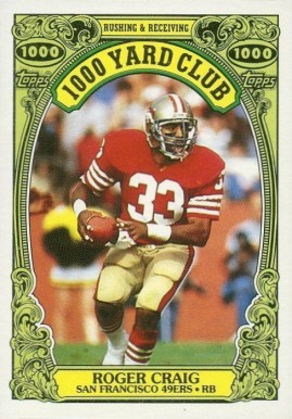 1986 Topps 1000 Yard Club Roger Craig #22 Football Card