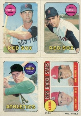 1969 Topps 4 in 1 Carl Yastrzemski # Baseball Card