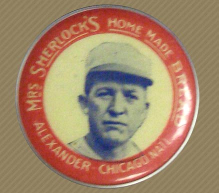 1924 Mrs. Sherlock Bread Pins (1924) Grover Alexander #1 Baseball Card