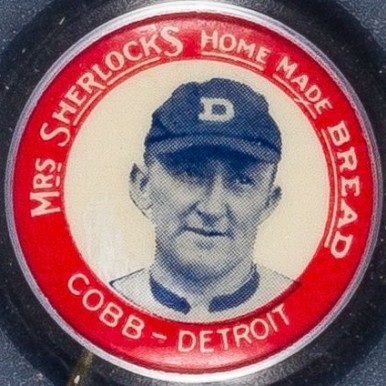 1924 Mrs. Sherlock Bread Pins (1924) Ty Cobb #2 Baseball Card