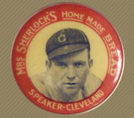 1924 Mrs. Sherlock Bread Pins (1924) Tris Speaker #9 Baseball Card