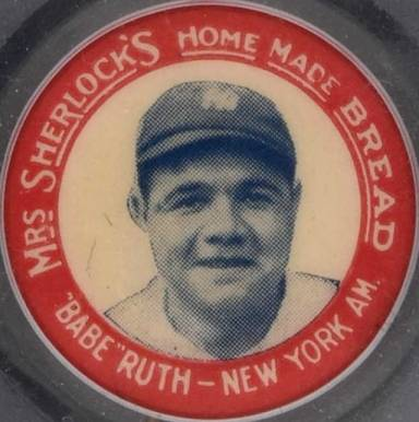 "1924 Mrs. Sherlock Bread Pins ""Babe"" Ruth #7 Baseball Card"