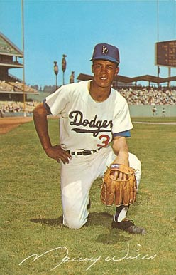 1965 La Dodger Postcards Maury Wills Baseball Vcp Price Guide