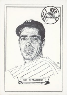 1950 Callahan HOF Joe DiMaggio #27 Baseball Card