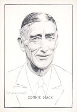 1950 Callahan HOF Connie Mack #50 Baseball Card