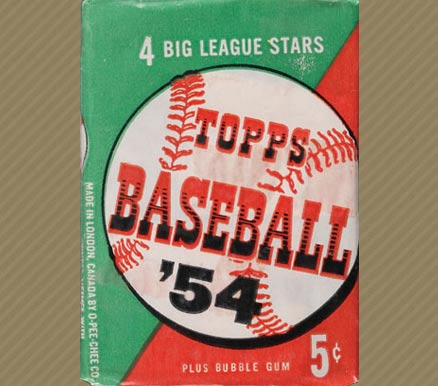 1950 1959 Unopened Packs 1950s 1954 Topps 5 Cent Wax Pack