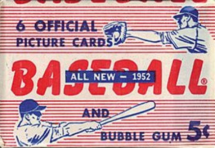 1950-1959 Unopened Packs (1950's) 1952 Bowman 5 Cent Wax Pack #52b5wp Baseball Card
