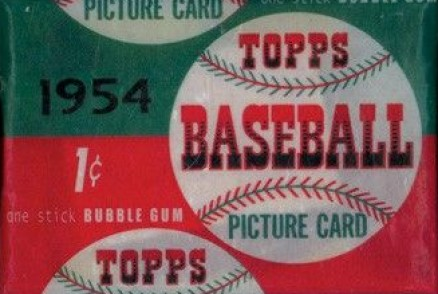 1950-1959 Unopened Packs (1950's) 1954 Topps 1 Cent Wax Pack #54T1cwp Baseball Card
