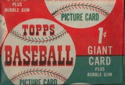 1950-1959 Unopened Packs (1950's) 1952 Topps 1 Cent Wax Pack #52T1cWP Baseball Card
