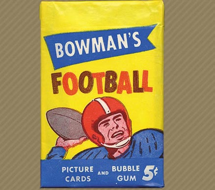 1950-1959 Unopened Packs (1950's)   #55B5CWP Football Card