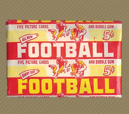 1950-1959 Unopened Packs (1950's) 1952 Bowman Large 5 Cent Wax Pack #52BL5CWP Football Card