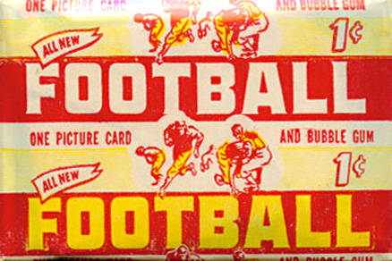 1950-1959 Unopened Packs (1950's)   #52bs1wp Football Card