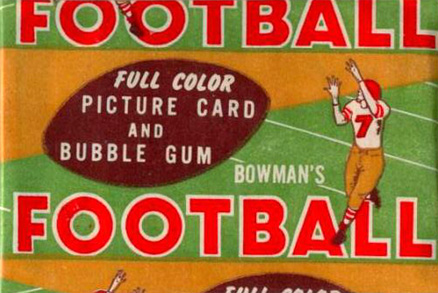 1950-1959 Unopened Packs (1950's)   #54b1cwp Football Card