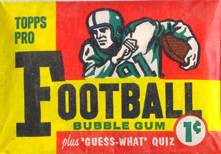 1950-1959 Unopened Packs (1950's)   #59T1cwp Football Card