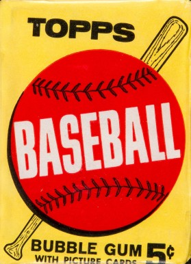 1960-1969 Unopened Packs (1960's) 1963 Topps 5 Cent Wax pack #63T5WP Baseball Card